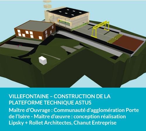 Villefontaine - construction de la plateforme technique ASTUS